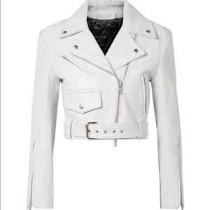 Calvin Klein Jackets & Coats - Cropped leather biker jacket Calvin Klein